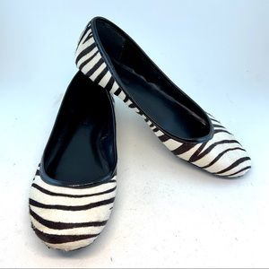 Banana Republic Zebra Calf Hair Ballet Flats